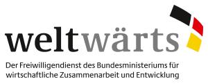 weltwärts-Logo mit Claim